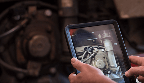 SKF insights being used on an tablet