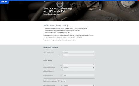 Railway calculator page